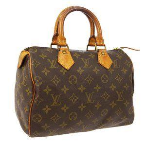 Louis Vuitton Speedy 25 Hand Bag Purse #6161L35B